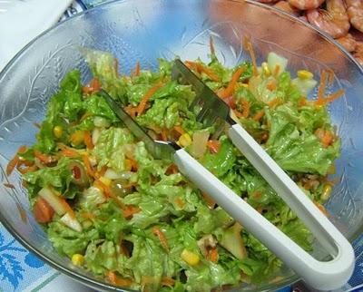 Salada mista com vinagreta