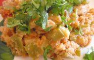 Açorda de bacalhau com Pimentão