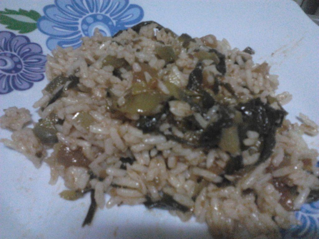 arroz escarola