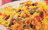 Arroz de legumes e parmesão