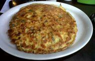 Omeleta Recheada e Flamejada
