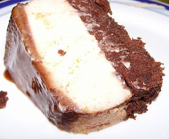 PUDIM DE 3 CHOCOLATES