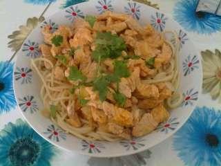 Gigot de Peru com Esparguete