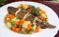 Sopa de macedónia com carne