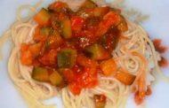Courgette com Molho de Tomate Agridoce