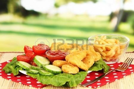 Nuggets de Frango e Legumes