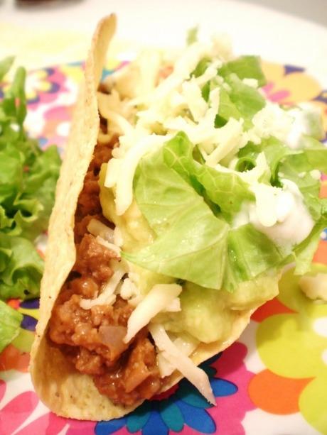 Tacos Mexicanos - Chili de Feijão com Carne e Sour Cream