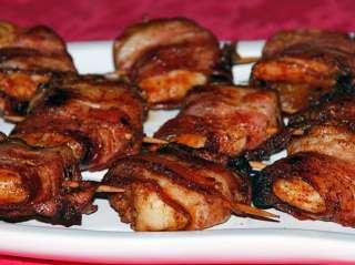 Camarão com Alperce e Bacon