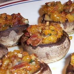 Quiche de Cheddar, Bacon com Cogumelos Fresco