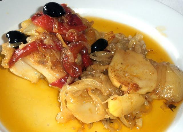 Bacalhau com Pimentos