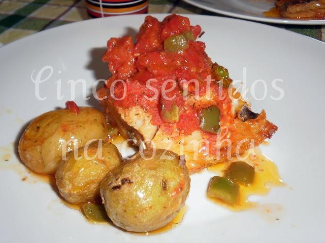 Bacalhau no Forno com Tomate