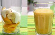 Batido de manga com iogurte