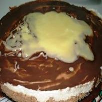 Marmoreado de Queijo com Chocolate e Gengibre