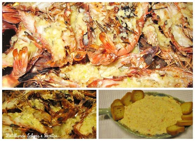 Patê de Camarão e Delicias do Mar