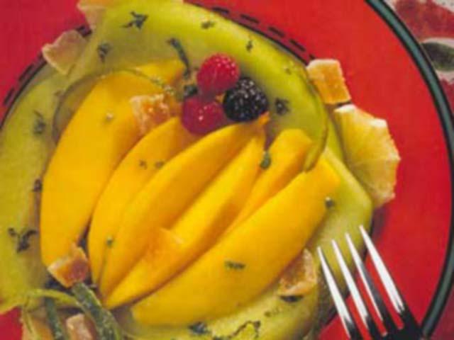 Fruta com Hortelã, Gengibre e Lima