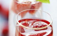 Cocktail de champanhe e morangos