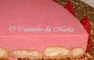 Semifrio de Morango com Palitos La Reine