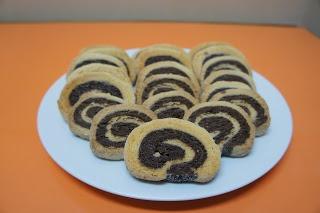 Bolachas de Chocolate em Espiral