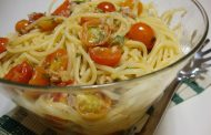 Esparguete com Tomate Cherry, Atum e Malagueta