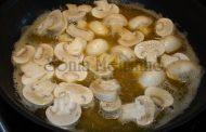 Bife com natas e cogumelos