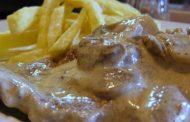 Bifes com Mostarda e Cogumelos