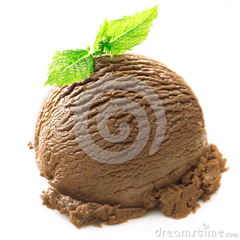 Gelado de Chocolate com Hortelã