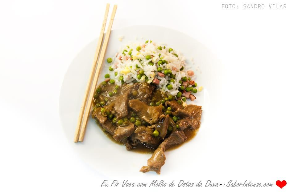 Carne de Vaca à Cantonense com molho de Ostras