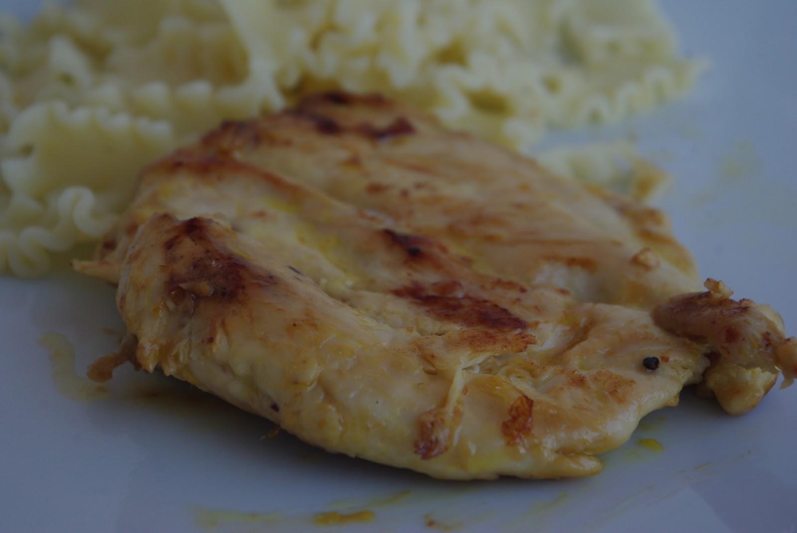 Peito de Frango Caramelizado com Laranja