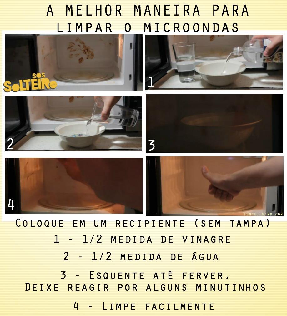 LIMPAR O SEU MICROONDAS