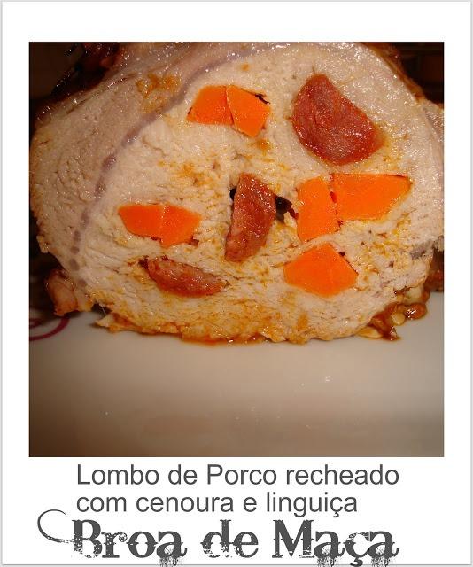 Lombo de Porco com Linguiça e Cenoura