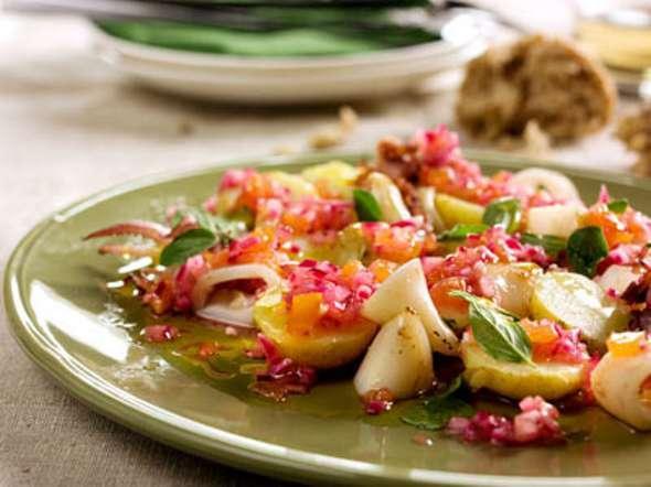 Salada de batata com vinagreta