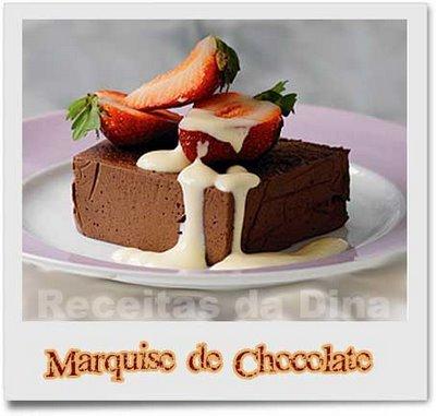 Marquise de Chocolate com Molho de Café