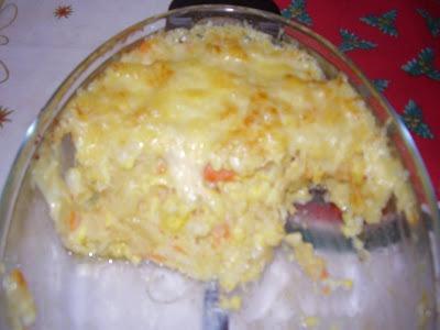 Bacalhau à Brás com Molho Bechamel e Bróculos