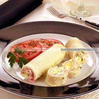 Rolinhos de fiambre com salada de batata