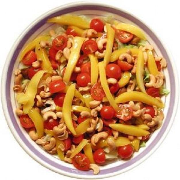Salada de manga com caju