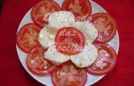 Salada Quente de Tomate e Mozzarella