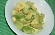 Sopa fria de pêra abacate
