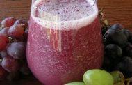 Sumo de uvas com leite condensado