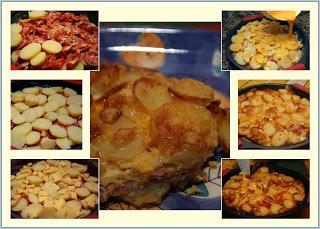 Tarte de Batata e Salsichas