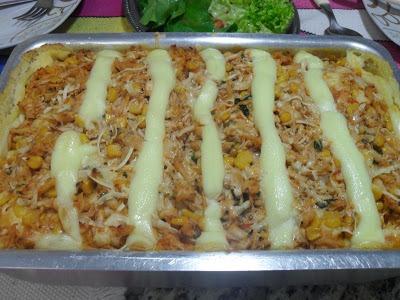 Tarte de Frango com Linguiça e Legumes