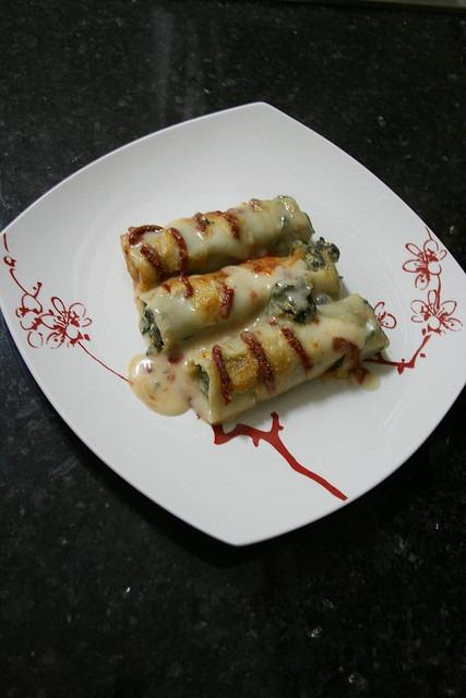 Canelloni com Espinafre