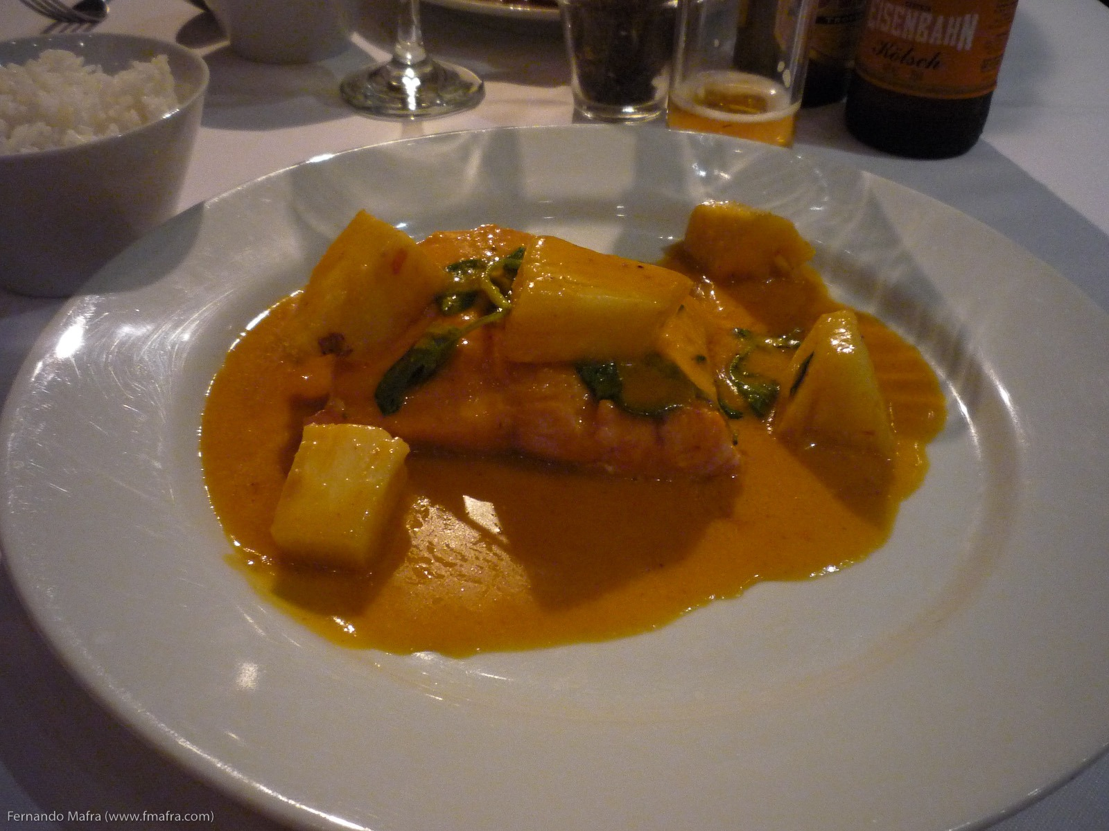 Salmão com Curry