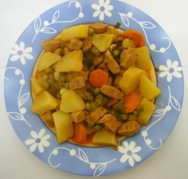 Soja com verduras e cogumelos
