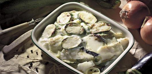 Bacalhau Gratinado com Legumes de Outono