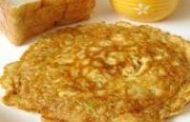 Omelete (com cascas de banana)