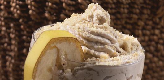 Mousse de Banana com Raspas de Bolacha