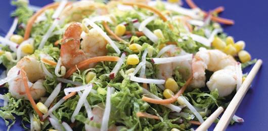 Salada de Camarão com Rebentos de Soja