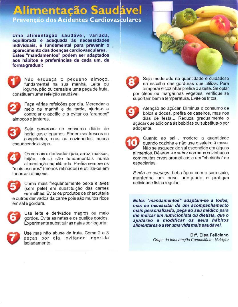 10 Mandamentos de Alimentação Saudável