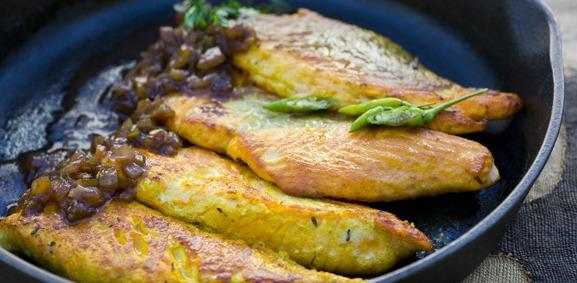Filetes de salmão com tamarindo