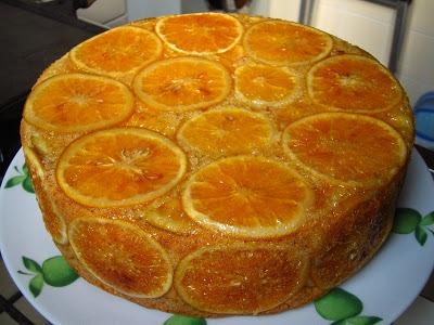 Bolo de nozes com laranja